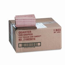 Pop-Open Flat Paper Coin Wrappers, 1000 Wrappers/Box (Set of 2)