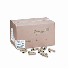 Preformed Tubular Coin Wrappers, 1000 Wrappers/Box