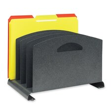 "4-Compartments Organizer, Vertical, 7-1/4""x7-1/2""x12"", Granite"