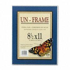 Un-Frame Box Photo Frame, Plastic, 8-1/2 x 11, Clear