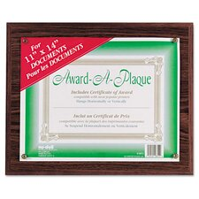 Award A Plaque Document Holder Picture Frame