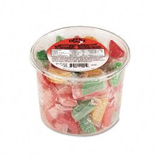 Assorted Fruit Slices Candy Tub