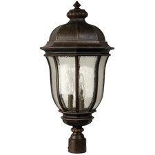 Harper Traditional Outdoor Post Lantern in Peruvian Bronze