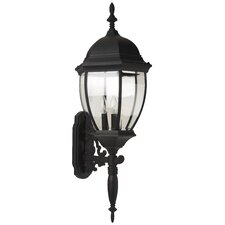 Bent Glass 3 Light Wall Lantern