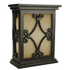 Hand Carved Scroll Design Door Chime in Black
