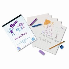 """Multi-Program Picture Story Paper, 0.63"""" Long Rule, 500 Sheets/Pack"""