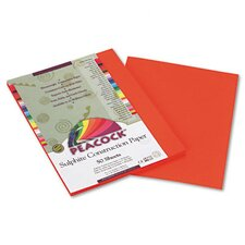 Peacock Sulphite Construction Paper, Rigid, 9 x 12 (Set of 3)