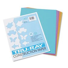Tru-Ray Sulphite Construction Paper, 9 x 12, Bright Assortment, 50 Sheets (Set of 3)