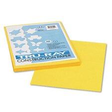 Tru-Ray Construction Paper, Sulphite, 9 x 12, Yellow, 50 Sheets (Set of 3)