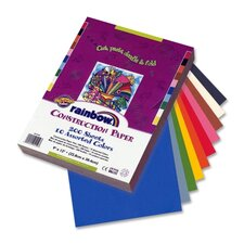 "Economy Construction Paper, 9""x 12"", 200/PK, Assorted"