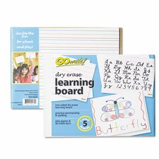 Dry Erase Learning Lap Board Reversible Whiteboard, 1' x 1'