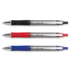 Ballpoint Pen,Retractable,Refillable,Medium,2/PK,Black Ink (Set of 2)
