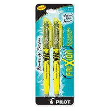 Erasable Highlighter, Chisel Point, 2/PK, Yellow
