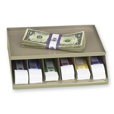 """Coin Wrap or Bill Strap Rack, 9-3/10""""x8""""x2-3/5"""", Pebble Beige"""