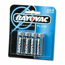 AA Alkaline Battery, 4/Pack