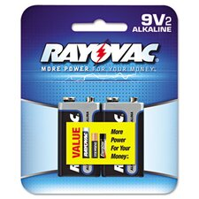 Alkaline Battery, 2/Pack