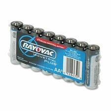 Industrial PLUS Alkaline Batteries, AA, 8/Pack (Set of 2)