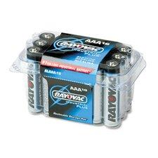 Industrial Plus AAA Alkaline Battery, 18/Pack