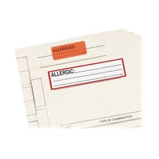 "Allergic Medi Label, 5-1/2x1-3/8"", 200EA per Roll, White/Red Border"