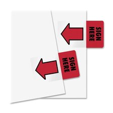 "Removable / Reusable ""Sign Here"" Page Flag, 50/Pack (Set of 4)"