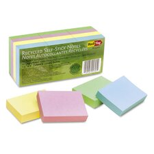 100% Recycled Note, 12 100-Sheet Pads/Pack (Set of 2)