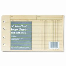 Extra Sheet for Four-Ring Ledger Binder, 100/Pack
