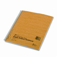 Subject Wirebound Notebook, Wide/Margin Rule, 80 Sheets/Pad (Set of 3)