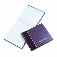 Visitor Register Book, Burgundy Hardcover, 128 Pages, 8-1/2 x 9-7/8