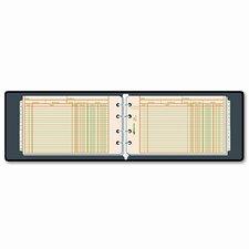 Four-Ring Ledger Binder Kit, 100 Ledger Sheets, 8-1/2 x 5-1/2
