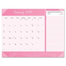 Pink Ribbon Monthly Desk Pad