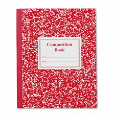 Grade School Ruled Composition Book, 9-3/4 x 7-3/4, 50 Sheets, Red (Set of 3)