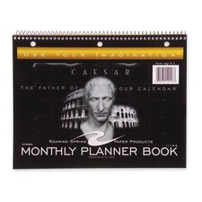 """Calendar, Undated, Wirebound, 13/Sheets, 11""""x8-1/2"""", Black, 2013"""