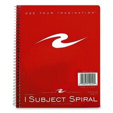 """1-Subject Notebook, Wide Ruled, 50 Sheets, 8-1/2""""x7"""", Brite Covers"""