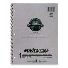 """Notebook Paper, 1-Sub, College Ruled, 80/Sheets, 11""""x8-1/2"""", Gray"""