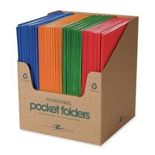 "Two Pocket Folders, 11-3/4""x9-1/2"", 100 per Carton, Fashion Assorted"