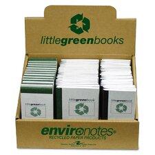 Little Green Books,Narrow Ruled, 60 Sh, 24 per Set, Assorted Size, Gray Mist
