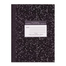 "Compostion Book, Unruled, 20 lb., 80/Sheets, 10-1/4""x7-7/8"", Black"