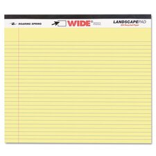 Landscape Format Writing Pad, College Ruled, 11 X 9-1/2, 40 Sheets/Pad (Set of 3)