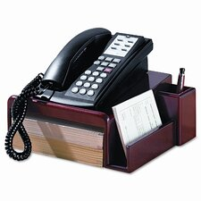 Rolodex Wood Tones Phone Center Desk Stand, 12 1/8 X 10