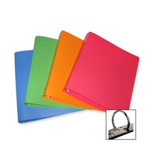 "Poly Binder ,1"" Capacity, 12 Count, Assorted"
