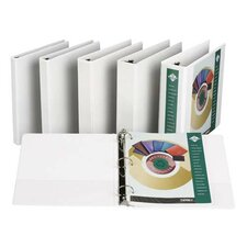 "Insertable Binder, 1/2"" Capacity, 8-1/2""x11"", White (Set of 3)"