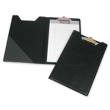 "Pad Holder, w/ Clip, Inside Pocket, 8-1/2""x5-1/2"", Black"