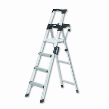 6 ft Aluminum Lightweight Folding Step Ladder with 300 lb. Load Capacity