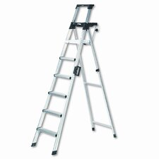 8 ft Aluminum Lightweight Folding Step Ladder with 300 lb. Load Capacity