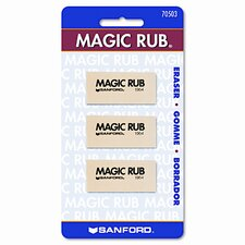 Prismacolor Magic Rub Art Eraser, 3/Pack (Set of 3)