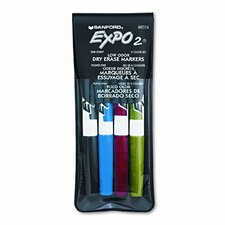 Expo Low Odor Dry Erase Markers (4 Pack) (Set of 2)