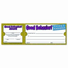 Good Behavior Ticket Award (Set of 2)