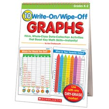 10 Write on Wipe Off Graphs Flip Record Book