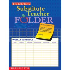 Substitute Teacher Folder Lesson Planner (Set of 4)