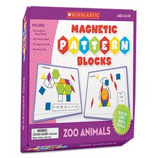 Magnetic Pattern Zoo Blocks Flash Cards